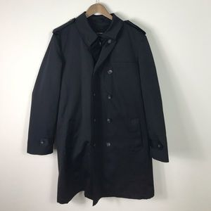 Chaps Trench Coat Black 44R with Winter liner